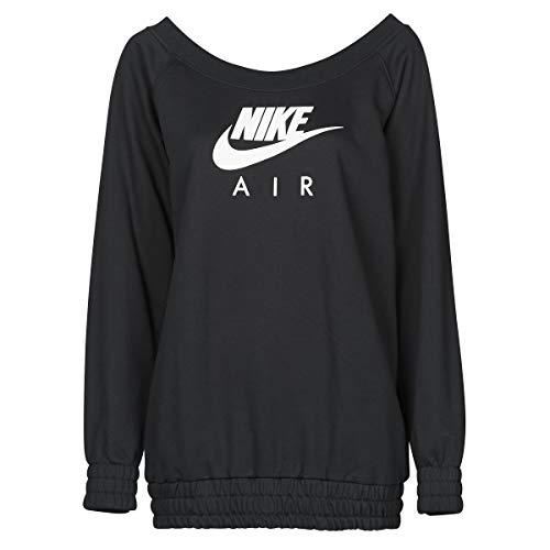 Nike NSW Air Crew OS Maxi Sudadera de mujer de algodón afelpado Negro XL