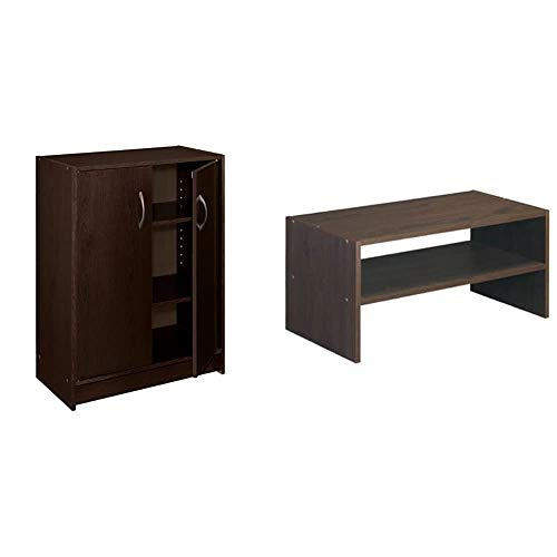 ClosetMaid 8925 2-Door Stackable Laminate Organizer, Espresso & 8995 Stackable 24-Inch Wide Horizontal Organizer, Espresso
