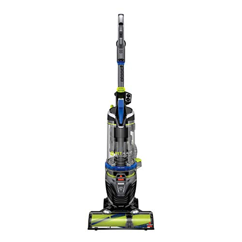 BISSELL Pet Hair Eraser Turbo Rewind Upright Vacuum Cleaner, 27909, Blue (Renewed)