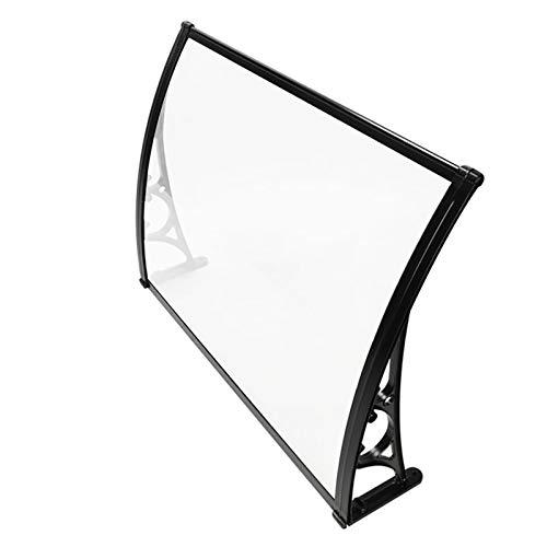 Canopy de la puerta del toldo de la ventana, la sombra del sol de policarbonato para la puerta delantera al aire libre Patio, UV / lluvia / nieve / de la luz del sol PROTECTORIA SOLICITUD (SOPORTE BLA