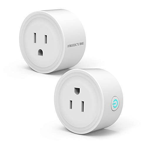 Smart Plug Compatible With Alexa, Echo, Google Home and IFTTT, FREECUBE Smart Socket Remote Control Your Home Appliances from Anywhere 16A 2 Pack