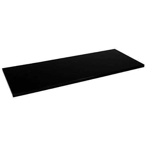 Mauser Tablette - pour l x p armoire 1200 x 420 mm, lot de 2 - noir - accessoires armoire à portes coulissantes armoires à portes coulissantes tablette tablette supplémentaire tablettes Accessoire