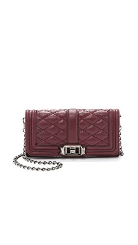 Rebecca Minkoff Women's Mini Love Wallet on a Chain, Port, One Size