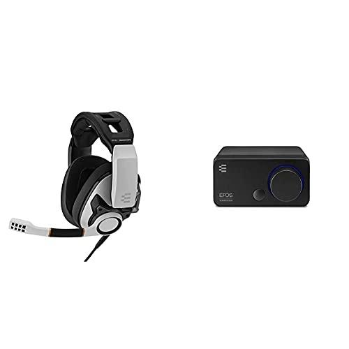 EPOS I Sennheiser GSP 601 Gaming Headset, Geräuschunterdrückendes Mikrofon, Flip-to-Mute, Ergonomisch, Ohrpolster + Sennheiser GSX 300, Gaming Dac/Externe USB-Soundkarte mit 7.1 Surround Sound