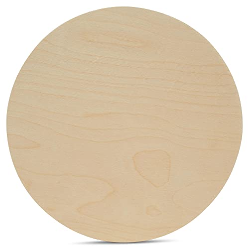 Wood Circles30inch,1/4Inch Thick, Birch Plywood Discs, Pack of 1 UnfinishedWoodCirclesfor Crafts, Wood Rounds by Woodpeckers