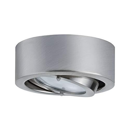 Paulmann 93512 Möbelaufbauleuchte Micro Line Dress Schranklicht schwenkbar Unterbauleuchte Eisen gebürstet Spot max. 20W 12V G4 Küchenlampe Downlight, Aluminium, Silber
