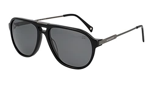 MAKARTHY Gafas de Sol Polarizadas Unisex Modelo RIBE (Negro)