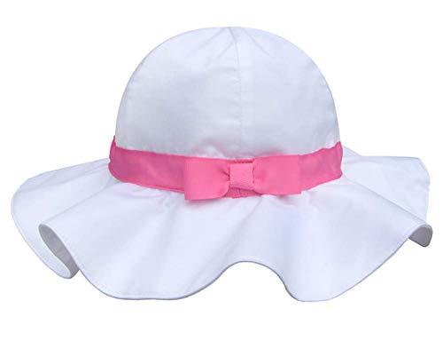 Pormow Frühjahr / Sommer Baumwolle Baby Mädchen Bowknot SonnenHut /Beach Hut / Outdoor Hut (46cm/6-12m, Rosa)