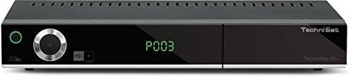 TechniSat TECHNISTAR S1+ HD Sat-Receiver mit PVR-Aufnahmefunktion via USB, HDTV, UPnP-Livestreaming, Ethernet, inkl. HD+ Smartcard, schwarz