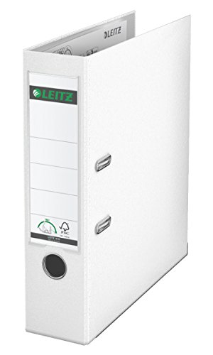 Leitz 10105001 Qualitäts-Ordner (Plastik-Cover, A4, 8 cm Rückenbreite) weiß
