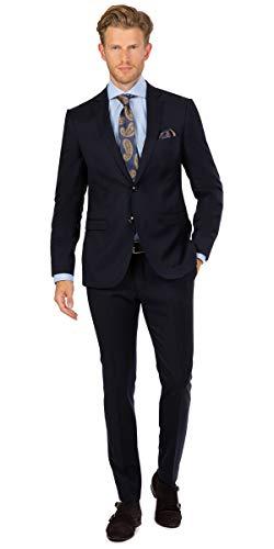 Linus Super Slim Fit Anzug S 120's in dunkelblau (48)