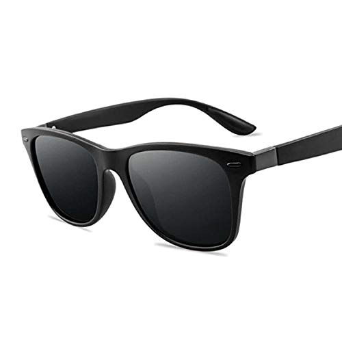 Sonnenbrille Klassische Polarisierte Sonnenbrille Männer Frauen Fahren Square Frame Sonnenbrille Männliche Brille Uv400 Mode Persönlichkeit Sonnenbrille-Black_Gray