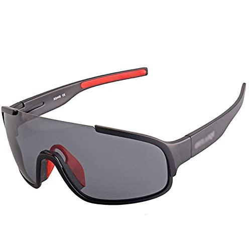 YYLI Gafas de SolCiclismo para Hombre y Mujer, Gafas de Sol Polarizadas 3 Lentes UV400 Intercambiables y Monturas TR-90, Gafas de Deportivas para Deportes al Aire Libre Correr Golf Beisbol,A