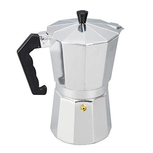 YHUS Stovetop Espresso Maker Moka Pot, Moka Pot Espresso Maker Stovetop Cafetera, Aluminio Moka Express Espresso Latte Coffee Cup Pot para Home Office Coffee & Tea Tools (Tamaño: 150 ml)