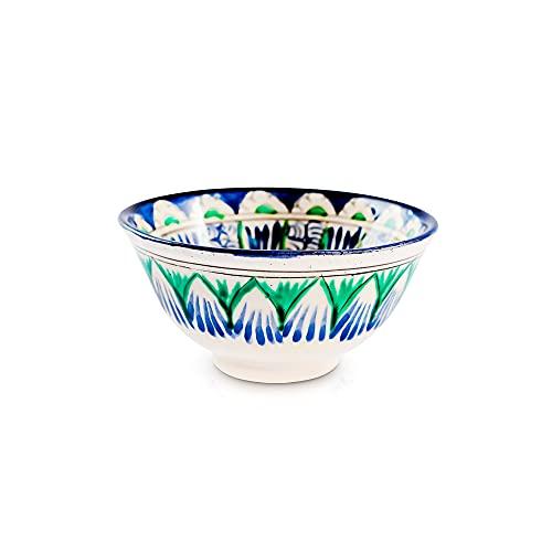 Cuenco redondo de cerámica, diseño oriental, 11 cm de diámetro, 200 ml
