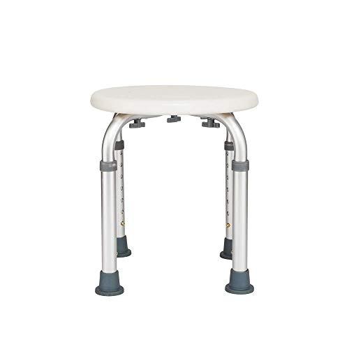Kücheks Höhenverstellbarer Badeduschstuhl & Alu-Badewanne Duschbank Badstuhl aus Aluminiumlegierung (Runde 7)
