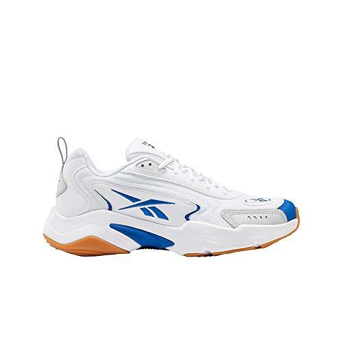 Reebok Vector Runner, Zapatillas de Running Unisex Adulto, Blanco/VECBLU/PUGRY2, 44.5 EU