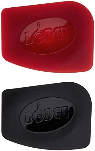 Lodge SCRAPERPK Durable Polycarbonate Pan Scrapers Red and Black 2 Count product image