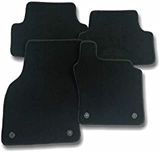 - Antideslizante A medida Aspecto terciopelo Modelo Luxe Moqueta en negro 1000 g//m/² DBS 1766203 Alfombrillas de coche 3 uds Alfombrillas para coche