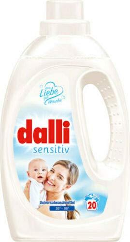 4x dalli sensitiv Universal Waschmittel Hautverträglich 20W 1,1L flüssig