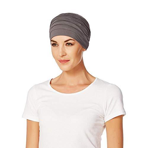 Christine Headwear Christine Headwear Yoga Turban, onkologische Mütze mit hypoallergenen Bambus, Grau One size