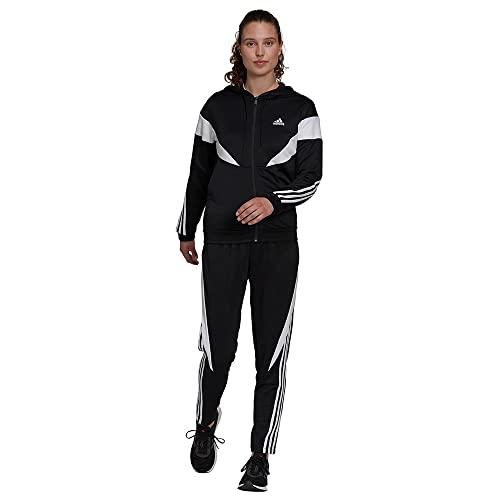 adidas Womens W Colorblock Ts Trainingsanzug, Black/White, XL