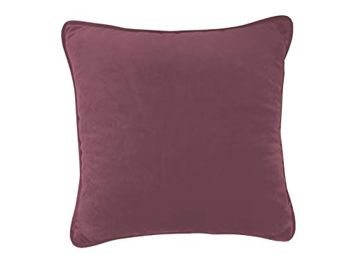 chilly pilley Cushion Small Velvet Cushion with Piping Back Cushion Decorative Cushion (30 x 50, Dark Red)