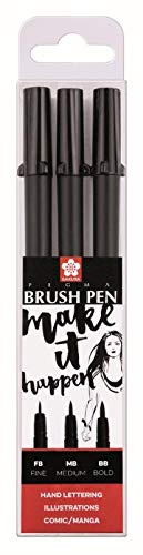 Sakura Pigma Brush Pen 3 zwart