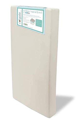 zenBaby Hybrid 2-in-1 Crib & Toddler Bed Mattress by Colgate Mattress | Automatic Temperature Control | American Academy of Pediatrics-Recommended Firmness | Ultra Soft & Hypoallergenic Cover |US Made
