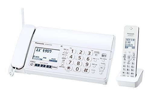 パナソニック おたっくす デジタルコードレスFAX 子機1台付き 1.9GHz DECT準拠方式 ホワイト KX-PZ210DL-W