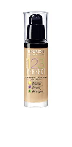 Bourjois - Fondotinta Liquido 1,2,3 Perfect Foundation - Fondotinta Idratante a Lunga Durata Spf 10 per Tutti i Tipi di Pelle Anche Miste - 54 Beige - 30 Ml