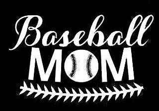 LLI Baseball Mom | Decal Vinyl Sticker | Cars Trucks Vans Walls Laptop | White | 5.5 x 3.4 in | LLI1227