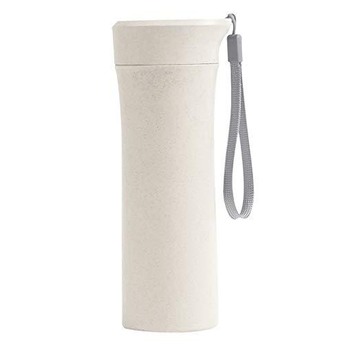 1pc 400-500ml Plástico Portátil Viaje Camping Botella de Agua a Prueba de Fugas Taza de Beber de Color sólido Botellas Deportivas para niñas Estudiantes - Amarillo