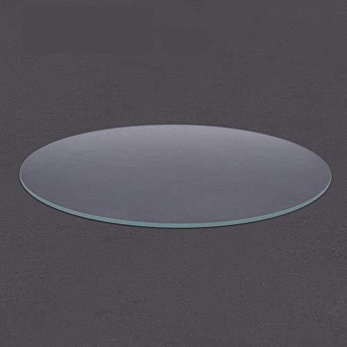 duradero Impresora 3D Vidrio de borosilicato redondo Placa de vidrio templado Diámetro 200 mm 220 mm 240 mm Cama calefactada plana transparente para Kossel Delta Accesorios de impresión 3D (tamaño: 22