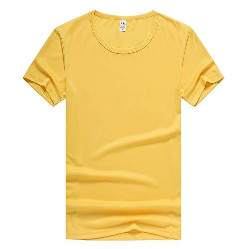 MedusaABCZeus Atmungsaktives Tank T-Shirt,Schweißabsorbierend und atmungsaktiv, Männer und Frauen Laufen T-Shirt-gelb_L,Herren Shirt Uv Schutz