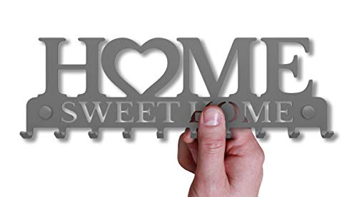 M-KeyCases Schlüsselbrett Home Sweet Home Wand-Organizer (10-Haken) Rustikaler Schlüssel-Board Hakenleiste Schlüsselleiste Vintage Decor Haus-tür Küche Fahrzeug-schlüssel Aufhänger