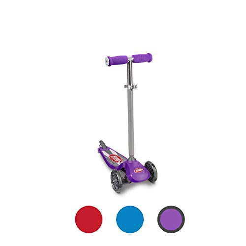 Radio Flyer Lean 'N Glide Scooter with Light Up Wheels Kids Scooter Purple