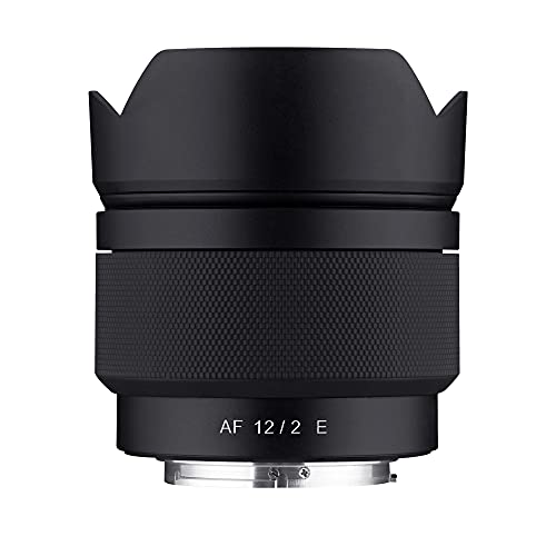 Samyang 12 mm F2.0 AF Ultra-Weitwinkel-Autofokus-Objektiv für Sony E-Mount (SYIO12AF-E)