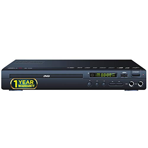 iBELL 2288 DVD Player Channel with USB Port | USB Copy Function & Built-in Amplifier, Black