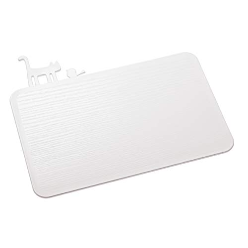 Koziol tagliere [pi:p], termoplastica, bianco, 25 x 29,8 x 0,5 cm