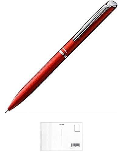 ぺんてる ゲルインキボールペン エナージェルフィログラフィ BLN2005B 0.5mm レッド軸 + 画材屋ドットコム ポストカードA