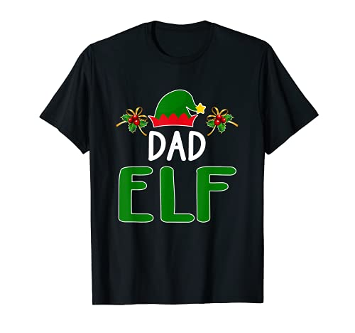 Disfraz de Elfo para Familia de Papá Elfo a juego Camiseta
