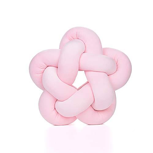 Cozywind Almohada de Bola de Nudo de Estrella ,Suave Cojín Infantil para Decoración Foto Prop (Rosa)