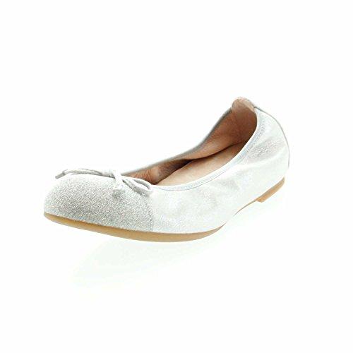 Unisa Damen Ballerinas Auto_19_MTS_S Silber 608513
