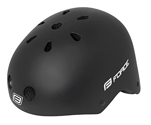 Force BMX Helm, Fahrradhelm, Skaterhelm, (schwarz-matt, L-XL)