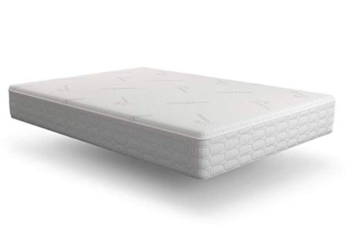 Snuggle-Pedic Original Ultra-Luxury Hybrid Mattress That Breathes - Patented Cooling Airflow Transfer System - Kool-Flow Bamboo Cover, USA Made, Memory Foam & Best Orthopedic Firm Support (Queen)