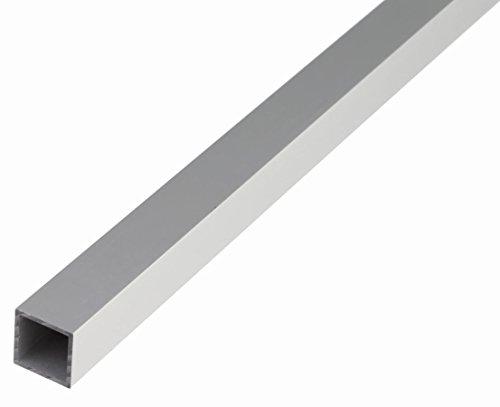 GAH-Alberts 473518 Vierkantrohr - Aluminium, silberfarbig eloxiert, 1000 x 10 x 10 mm