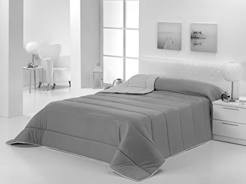 Energy Colors Textil - Hogar - Moscow - Edredón/Relleno Nórdico Reversible Máxima Calidad Transpirable 350 gr/m2 Microfibra Alta Densidad Invierno/Otoño (Negro - Gris, Cama 135 y 150 (240 x 260 cm))