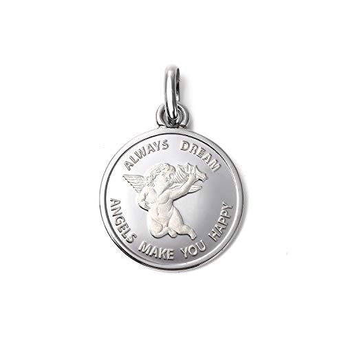 純プラチナ エンジェル 2.5 コイン ペンダントトップ シンプル 枠 天使 アクセサリー 首飾り ヘッド チャーム