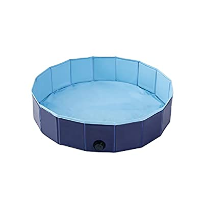 Kids Collapsible Sand and Water Pool - Foldable Play Yard Ball Pit Beach Play Pit Sandbox Portable Game Room Pet Bathing Summer Pool Diameter 32 Inch